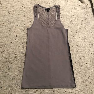 EUC AE long fitted racerback tank, Size M